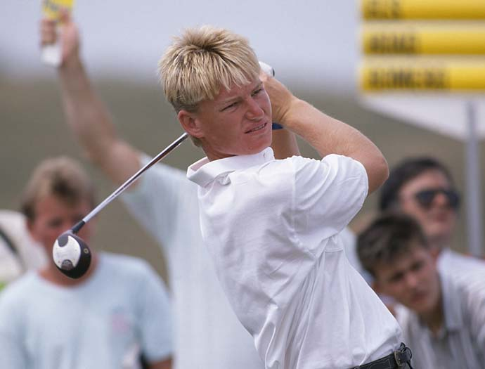 Ernie Els during the 1989 British Open held at Royal Troon.
