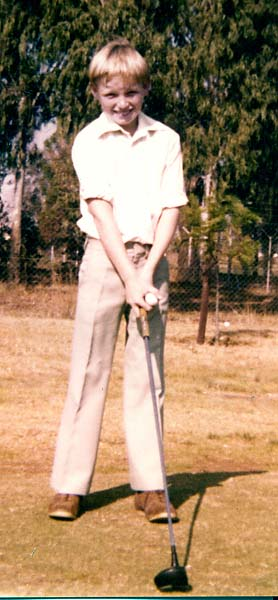 Young Ernie Els just after starting golf in South Africa.