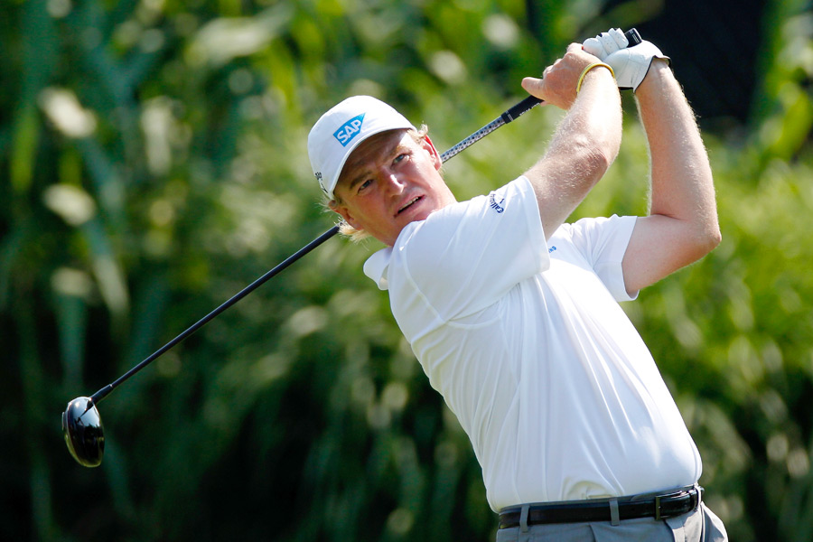 British Open champion Ernie Els finished at six over par.