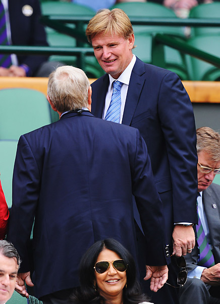 Four-time major winner and defending British Open champion Ernie Els ran into Nicklaus in the royal box in 2013 as well.