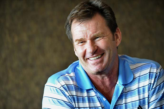"""If I can just hit a few solid long irons, who knows what could happen?""                       --55-year-old Nick Faldo on his decision to play the British Open at Muirfield this summer. Faldo won the 1987 and 1992 Open Championships at Muirfield."