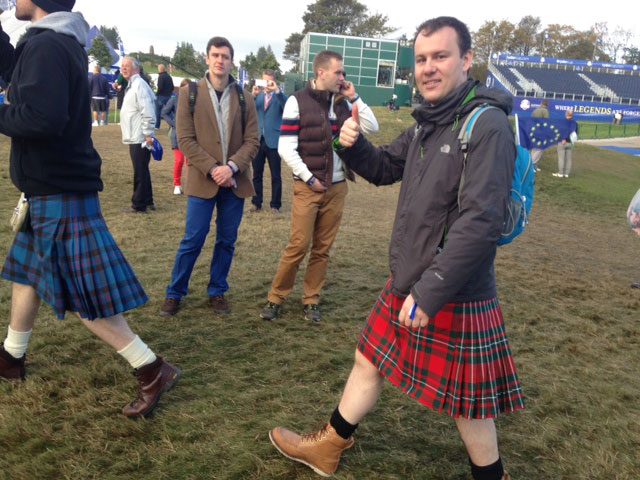 When in Scotland, wear a kilt.