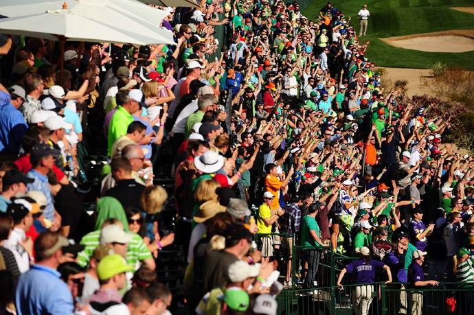 There was an estimated 179,000 fans at the Phoenix Open on Saturday.
