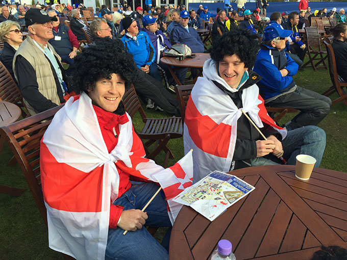 Wigs and flags as capes is always a good combo.