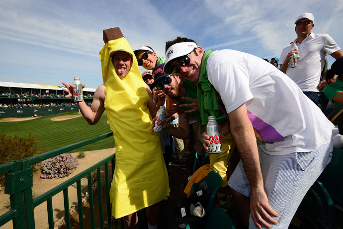 More than 179,000 people reportedly attended the Phoenix Open on Saturday, and most of them were at the par-3 16th.