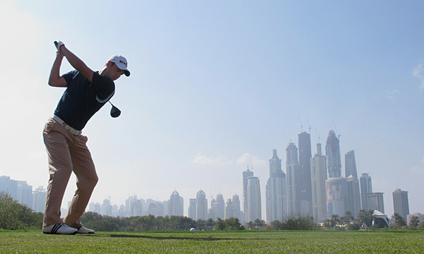 made six birdies, one bogey and a double bogey to match Westwood's 3-under 69.