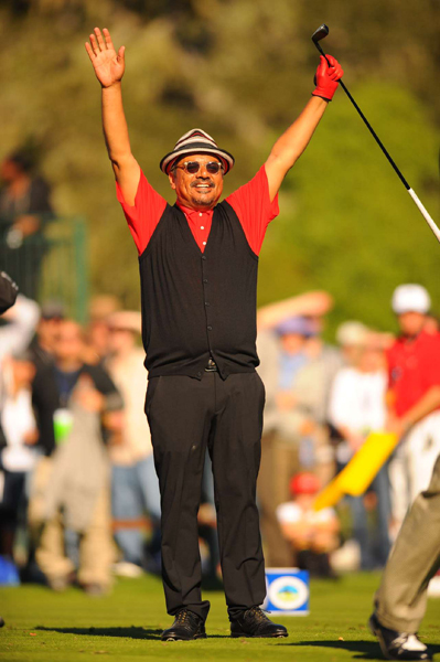 George Lopez shot a 6-under 66 with Trevor Immelman to make the cut.