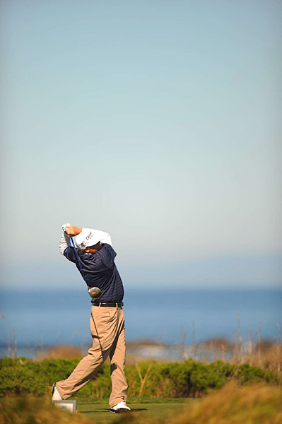 Steve Marino shot a 1-over par 73 at Monterey Peninsula, but he still has a one-shot lead heading into the final round.