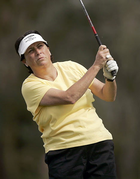 "4. Amy Alcott                       	She'll be remembered as the Hall of Fame golfer who made total-immersion baptism obligatory for winners of the Kraft Nabisco Championship. A mischievous free-spirit whose off-the-course endeavors included gourmet cooking, paint-throwing, and a part-time job in a Santa Monica bakery, Alcott won 29 LPGA events, including five majors. She also could do a spot-on impression of Edith Bunker singing ""Those Were the Days"". (Alcott said, ""I want to come back in my next life as a Solid Gold Dancer."")"