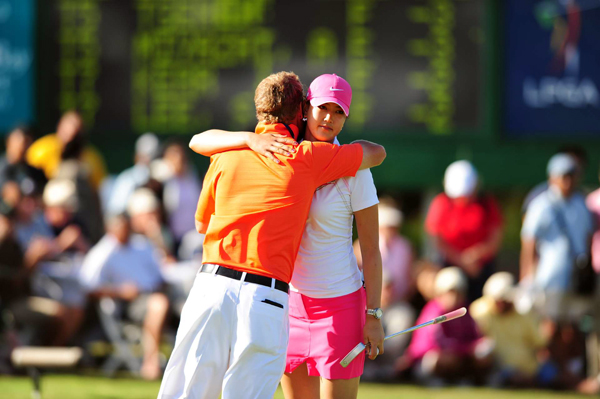 Final Round of the SBS Open at Turtle Bay                                              Michelle Wie was in position for her first win until a double bogey on No. 11. At the time, Wie held a three-shot lead. She shot a 73 and finished second to Angela Stanford.