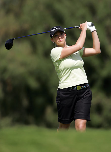 U.S. Open champ Cristie Kerr tied for eighth place.