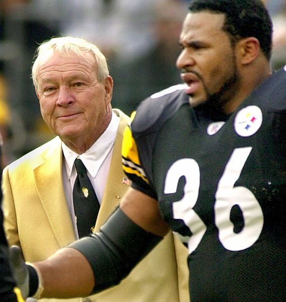 "Arnold Palmer: Pittsburgh SteelersBorn in Steeler Country (Latrobe, Pa.), Palmer has been a fan of the franchise since almost the beginning and he was a close friend of Steelers founder Art Rooney. ""I knew him very well,"" Palmer told Steelers.com. ""He was the inspiration behind the start of the Steelers and carried it right on until his death."""