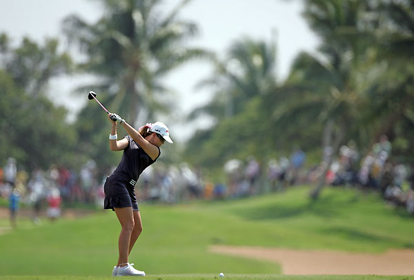 Paula Creamer is two shots back after a four-under 68.