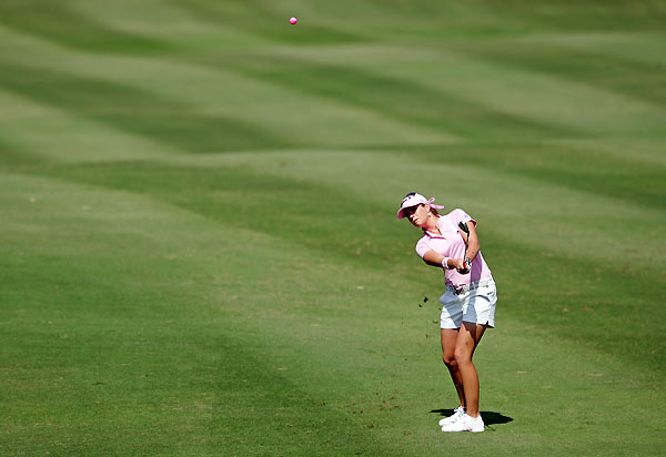 Creamer shot a bogey-free 66 to win her fifth LPGA title.