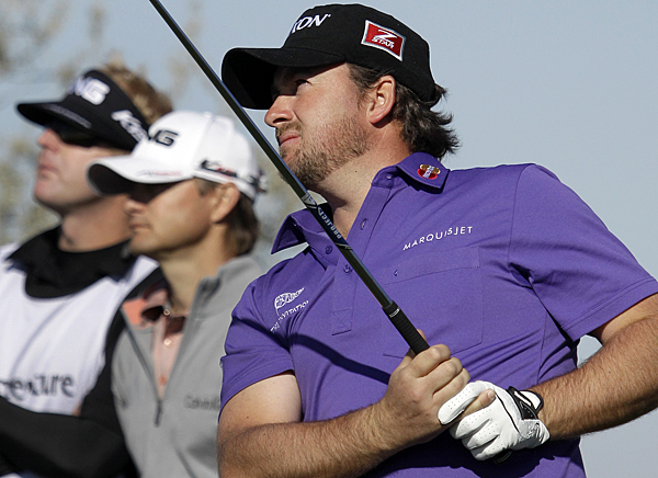 Graeme McDowell easily defeated Heath Slocum, 4 and 3. He'll face Ross Fisher, who beat Robert Allenby, on Thursday.
