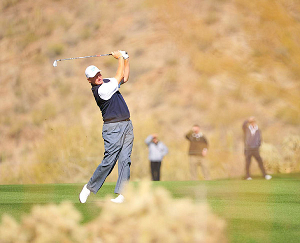 Els will face J.B. Holmes in the second round.