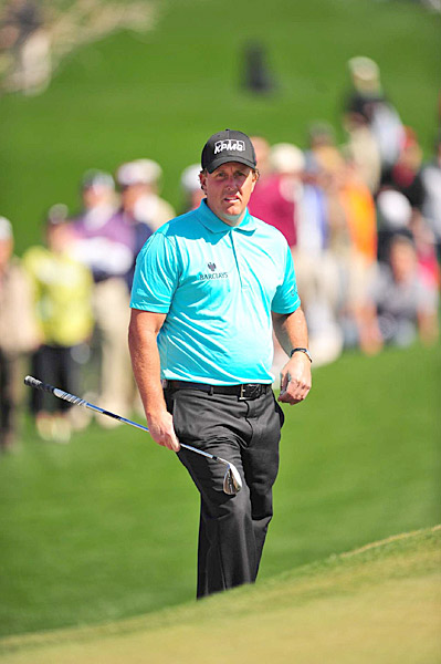 Mickelson faces Rickie Fowler on Thursday in one of the most anticipated matches of the second round.