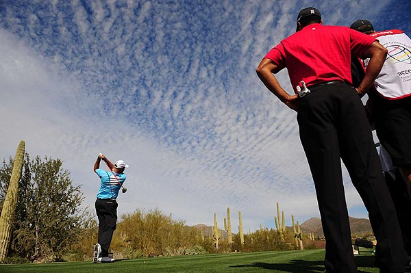 """Woods answered that by winning the next hole, and the match. """"In match play, especially a 36-hole match, you know, if your opponent is not ever really opening the door then you've got to do something spectacular, and I didn't. I just didn't,"""" Cink said."""