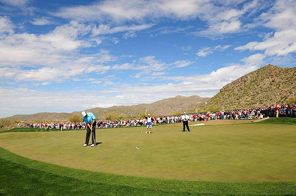 """After he made a birdie putt on the 16th, Cink was only 3 down. """"I've been a little inconsistent,"""" he said. """"I've had some really good moments driving the ball and some really weak moments. But my putting has been solid all week."""""""