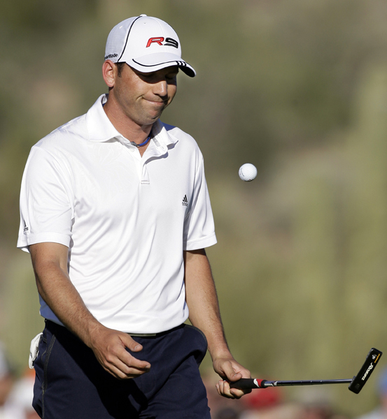 Sergio Garcia was one of the top players knocked out in the first round. Padraig Harrington, Adam Scott, Trevor Immelman and Kenny Perry also lost on Wednesday.