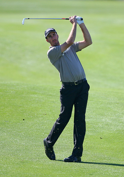made three-straight birdies on the front nine in his five-under 66.