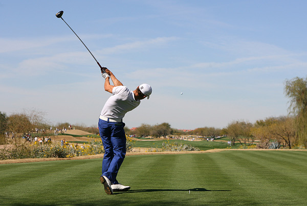 tied the tournament first-round record with a 62 for the early lead at the Waste Management Phoenix Open.