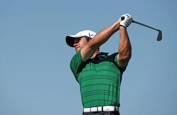 Paul Casey was 3-up after four holes, and he cruised to a 4-and-2 win over Peter Hanson.