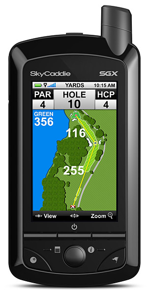 SkyCaddie SGX GPS                       $400, skygolf.com                       The latest offering from SkyGolf (preloaded with basic info on 30,000 courses, with room for 50 more detailed maps) can keep track of every shot you hit, creating a profile for each stick in your bag that makes club selection as simple as pressing a button. Also included are a personal scorecard and stat-tracker, which lets you keep tabs on everything from fairways hit to greens in regulation.