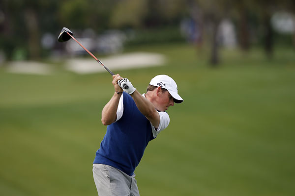 Justin Leonard bogeyed 17 and 18 to finish at even par.