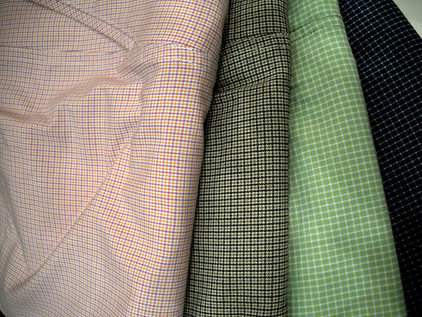 Minichecks remain an important trend in golf wear, that is, checked patterns so small they make the garment seem like a solid color from a distance. These are from Cleveland Classics.