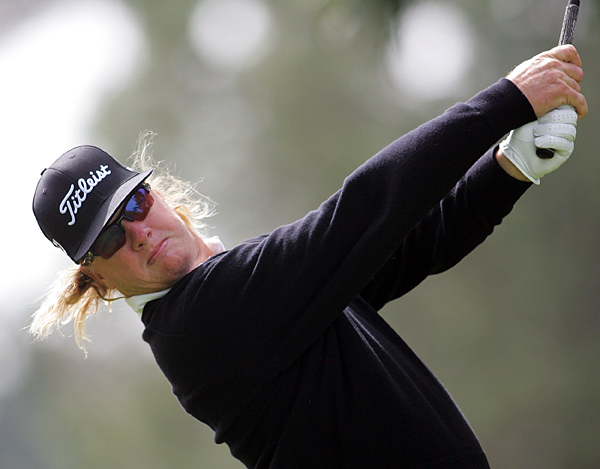 Charley Hoffman took advantage of the easier North Course, shooting a 6-under 66.