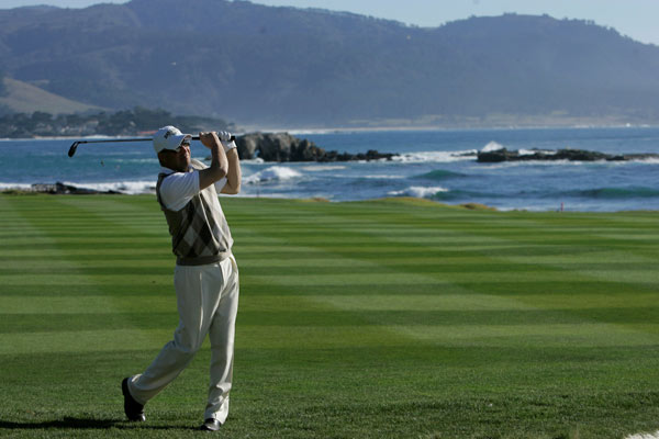 """Tin Cup"" star Kevin Costner played Pebble Beach with D.J. Trahan."