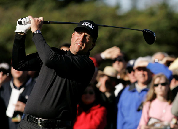 Third Round of the AT&T Pebble Beach National Pro-Am                     A week after losing in a playoff at the FBR Open, defending champion Phil Mickelson made an 11 on the par-5 14th at Pebble Beach to miss the cut.