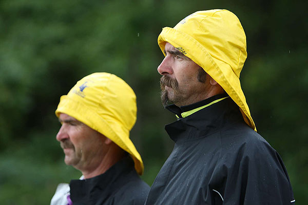 These fans came prepared for a monsoon that never materialized.
