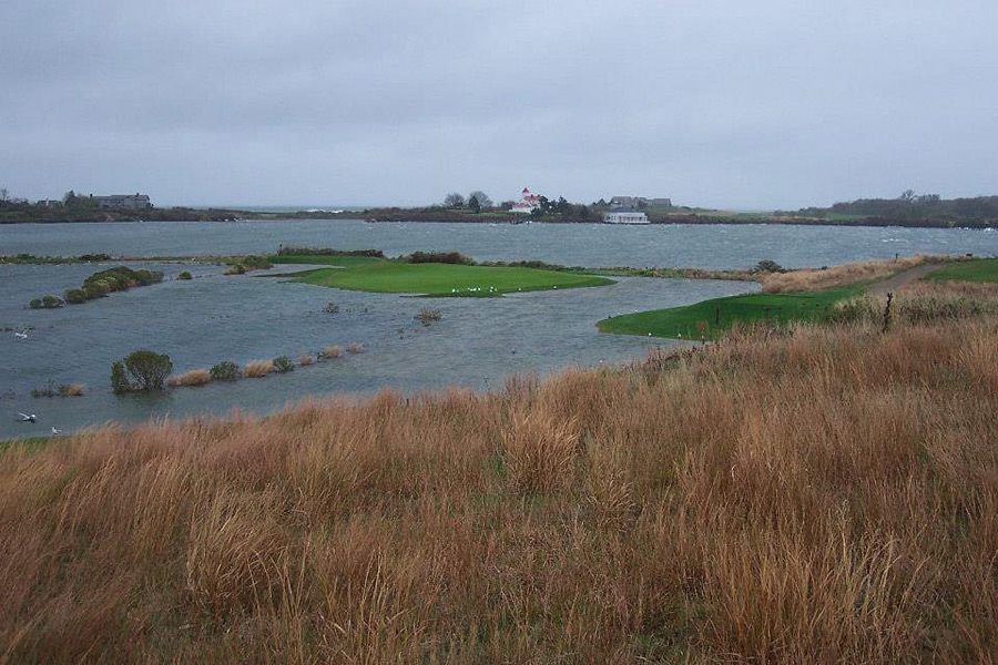 Mark Andrews (@mandrews05) tweeted this picture of the 13th hole at New York's Fishers Island Club to Golf Channel's Jason Sobel (@JasonSobelGC).