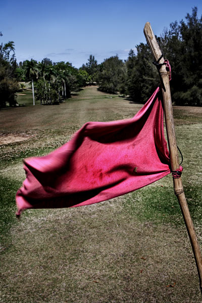 Adios Fidel, Hello Tiger: The Past, Present, and Future of golf in CubaFifty years ago Fidel Castro took power in Cuba. Two years later, after losing a golf match to Che Guevara, the dictator bulldozed most of his country's courses. Today, the island's tiny, eternally optimistic golf community is hoping to be freed for its second actIn this picture: Due to a lack of money and support for golf in Cuba, courses such as the Havana Golf Club are forced to make flagsticks from bamboo with rags attached.