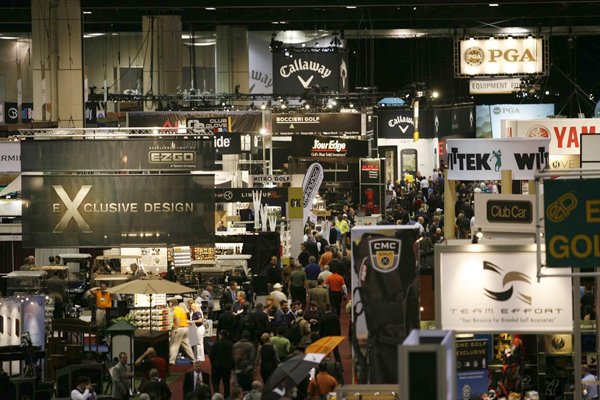 The main floor was packed with vendors from all over the golf industry.