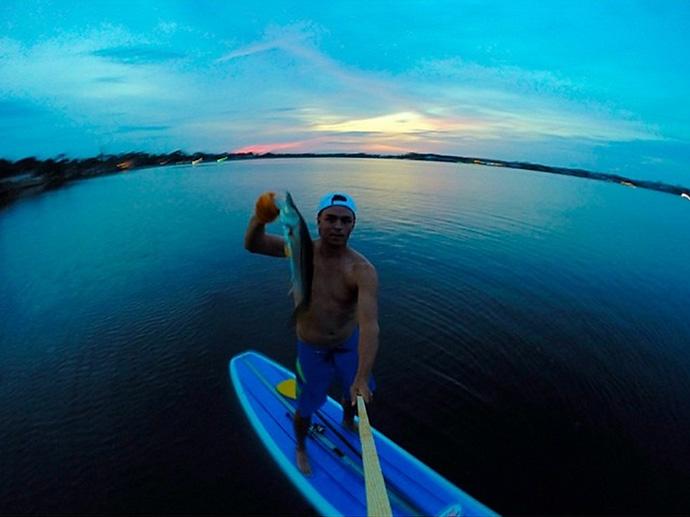 @RickieFowler_PGA: SUP fishing #littlesnook