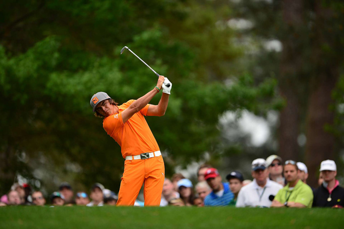 Rickie Fowler shot a six-over 78.