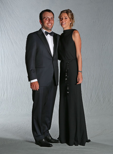 Francesco Molinari and his wife, Valentina.