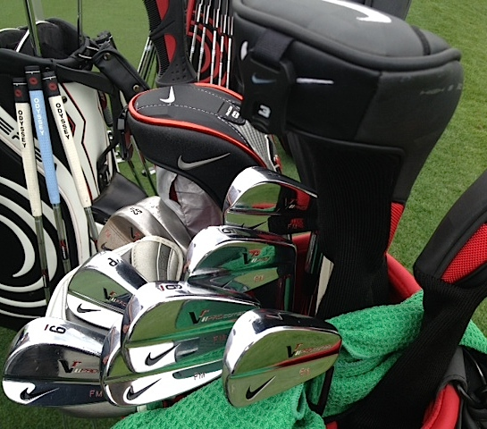 Some beautiful forged Nike VR Pro blades from the bag of Francesco Molinari.