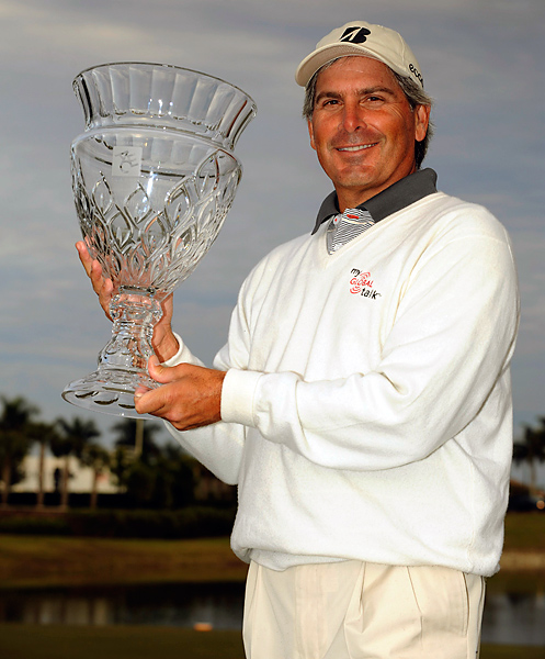 Fred Couples, having turned 50 on October 3, 2009, joined the Champions Tour in 2010. After finishing second behind Tom Watson in his debut at the Mitsubishi Electric Championship, Couples earned his first Champions Tour victory in his next start at the 2010 ACE Group Classic.