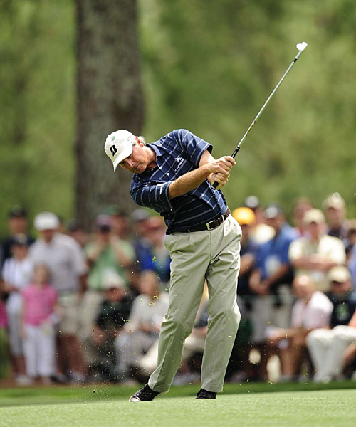 is alone in fifth place after shooting 68 to get to seven under for the tournament.