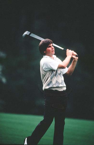 Fred Couples at his first Masters in 1983. He played his 28th Masters in 2013.