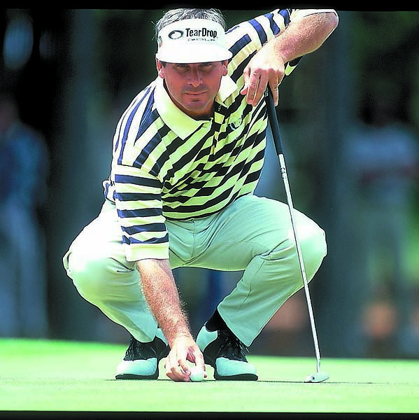 Fred Couples in first round action at the Shell Houston Open at The Woodlands course in Houston in April 2000.