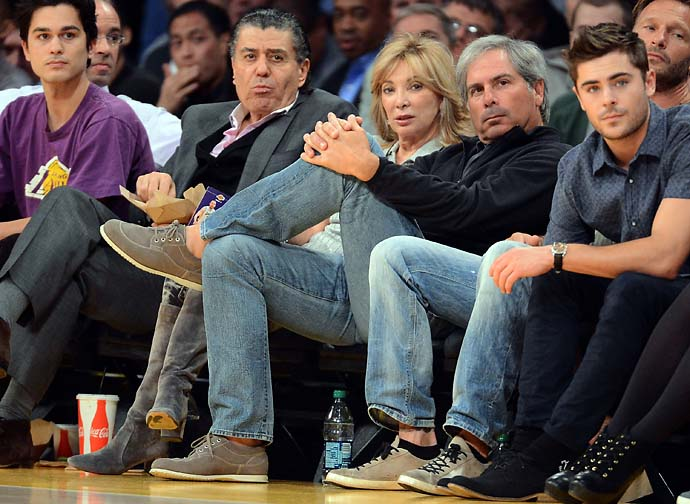 Fred Couples watches a Lakers-Spurs game at the Staples Center on Nov. 13, 2012 in Los Angeles, Calif.