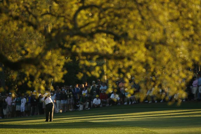 Fred Couples on the 17th hole at the 2006 Masters, where he finished T3.