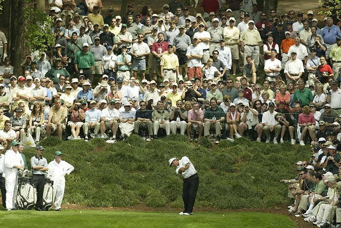 Fred Couples at the Masters Par 3 Contest in 2004.