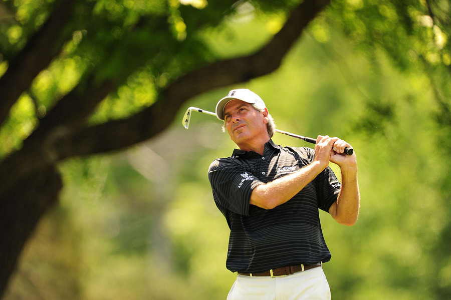 Fred Couples made three birdies, three bogeys and a double bogey for a 74.