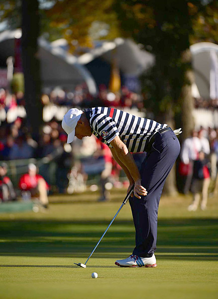 Jim Furyk made bogey at 17, and then missed an eight-foot par putt at 18 to lose to Sergio Garcia, 1 down.